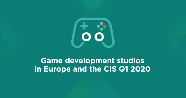 Game development studios in Europe and the CIS Q1 2020